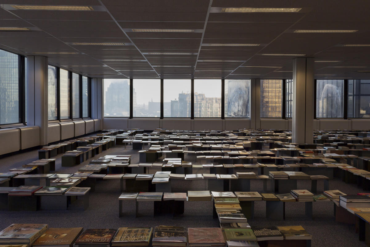 'Flat Library' by Zinaïda Tchelidze at World Trade Center, Brussels