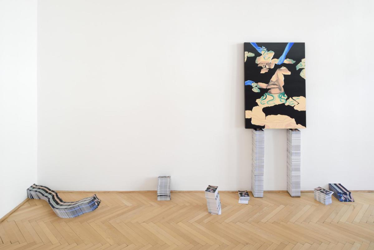 'hot sand between the sandal and the foot' by Šárka Koudelová and Eva Skopalová at Zahorian & Van Espen Prague