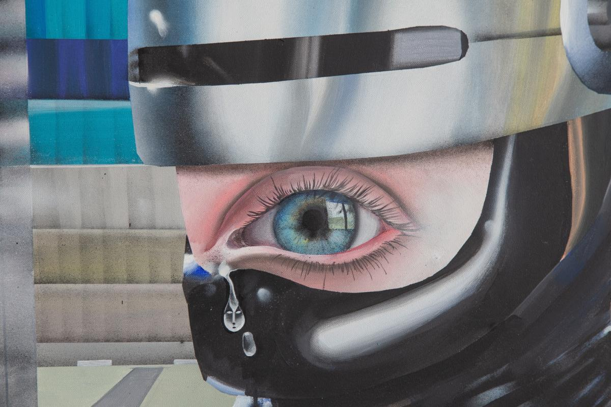 'R.P.G. – Robocop Paints Grisaille' by Botond Keresztesi at VUNU Gallery
