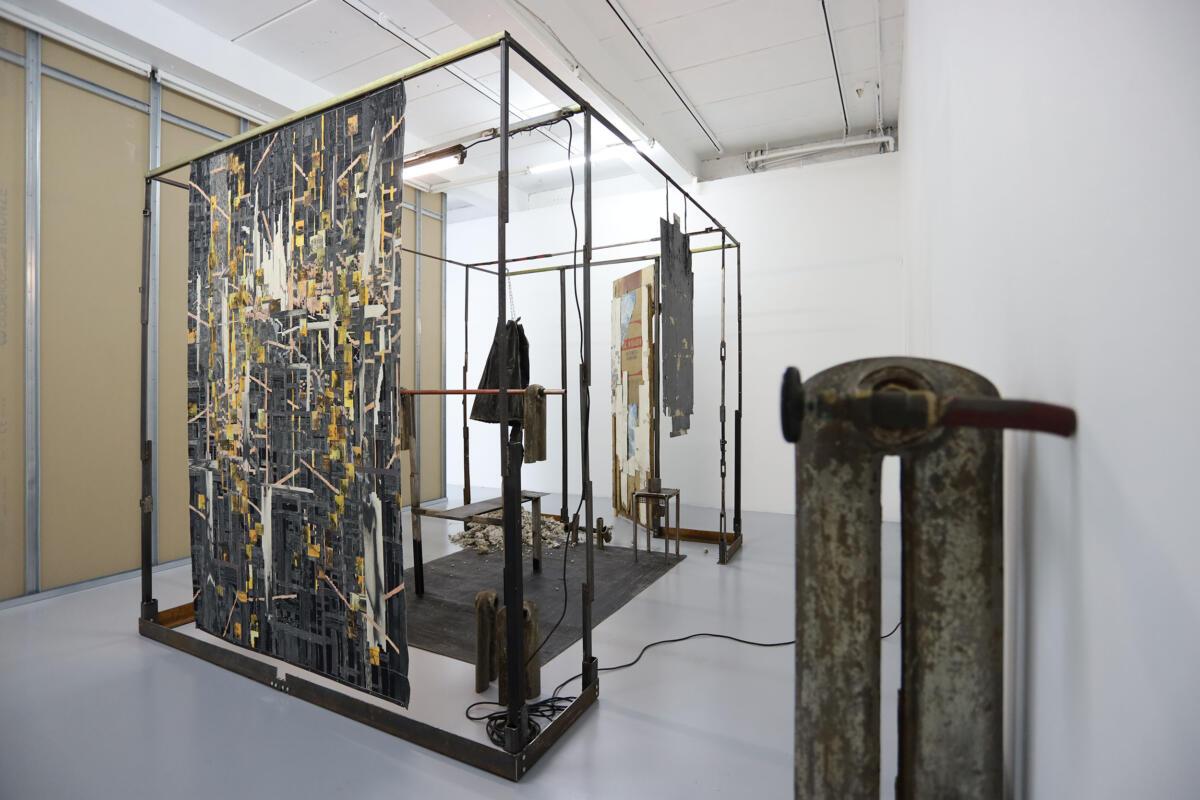 'Slash & Burn I' by Marcin Dudek at Harlan Levey Projects