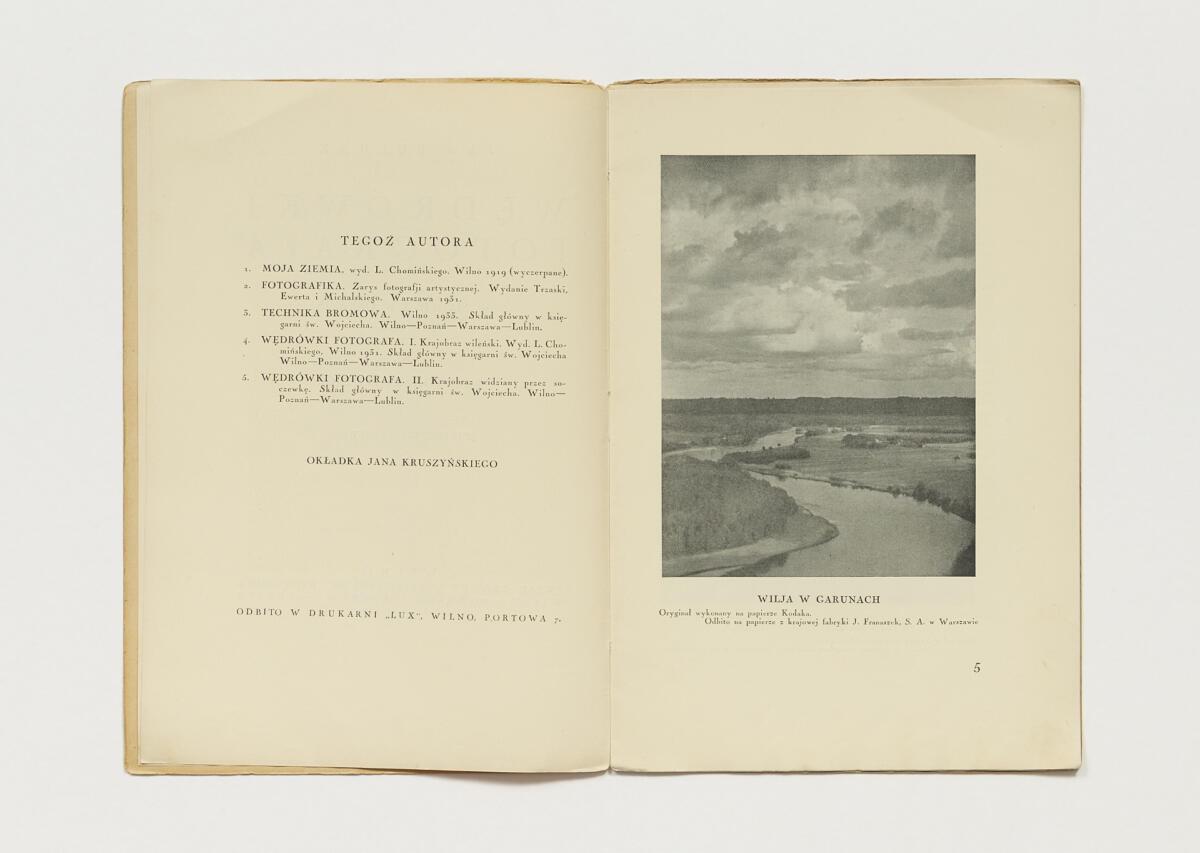 Jan Bułhak, 'Wędrówki fotografa w słowie i obrazie. III. Przez Ponary do Trok' (1933)